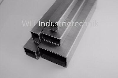 Stainless Steel Square Tubing Rectangular Pipe Handrail V2A Ground Posts