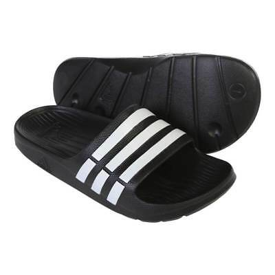 b2b7ab7e7 Adidas Duramo Mens Slides Sandals Flip Flops Beach Wear Black Size US 12 NEW