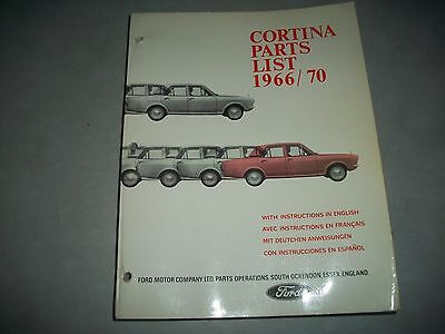 Original 1966-1970 Ford Cortina Including Lotus Illustrated Master Parts Catalog