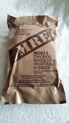 Mre U.s Ration Pack Menu 3, Camping, Hiking, Fishing,airsoft,survival.