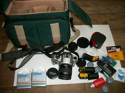 Canon Ultrasonic camera,lens,case,accessories,flim