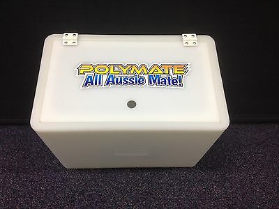 Aussie Polymate Live Bait Tank - 35Ltr Clear UV Stabilised - with hinged lid