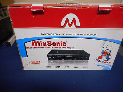 Mixsonic MS1088B Professional Karaoke machine USED, Exc Condition