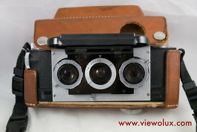 Stereo Realist 3D Camera with Original Case and German Strap