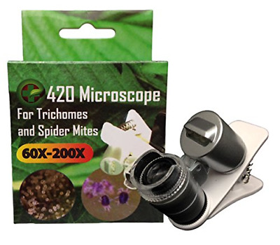 420 Microscope for Trichome & Spider Mite Identification 60X-200X Magnification