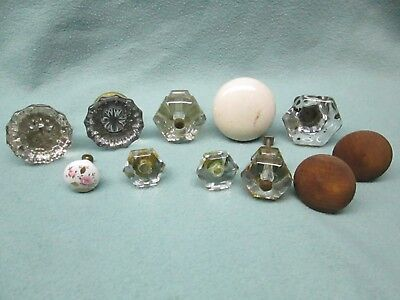 Lot Door Knobs Drawers Wood Glass/Crystal Handles 11 Home Decor Hardware