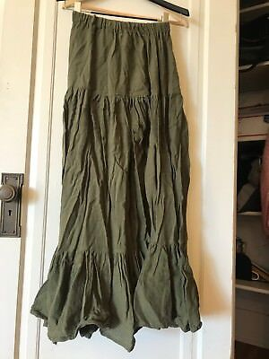 Renaissance fair peasant skirt green *one size fits all* Made in California