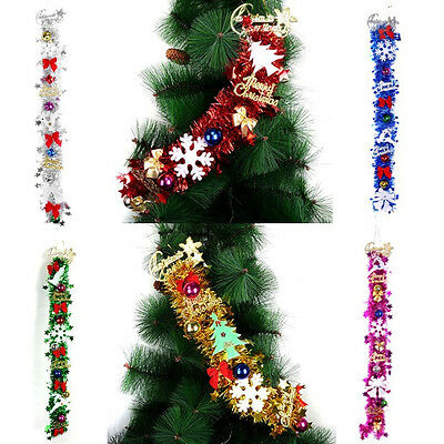 Christmas Tree Wreath Ornaments Sparkling Glitter Ball Shiny Garland Decoration