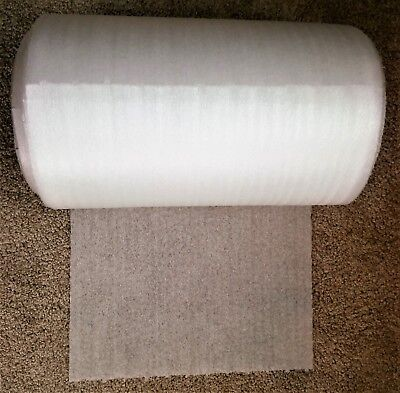 """12"""" Inch Wide x 120 Feet Long Roll of 1/32"""" Perforated Ribbed Packing Foam NEW!"""