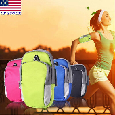 Waterproof Outdoor Sport Running Cycling Arm Band Holder Zipper Bag For Phone US