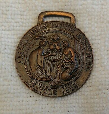 Alaska Yukon Pacific Exposition 1909 Medal with Loop