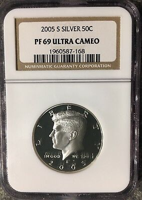 2005 S Silver Kennedy Half Dollar Pf 69 Ngc Ultra Cameo