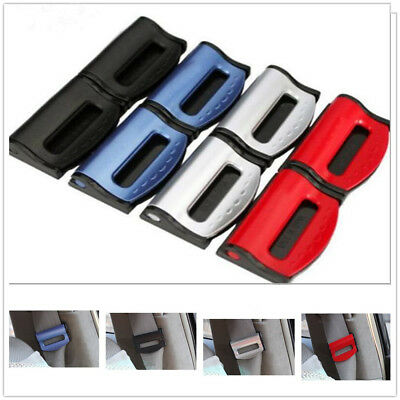 1 Pair Universal Car Safety Seat Belt Buckle Alarm Stopper Clip Clamp