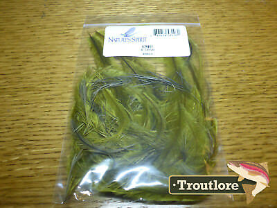 Emu Feathers Dyed Olive Natures Spirit - New Flytying Materials