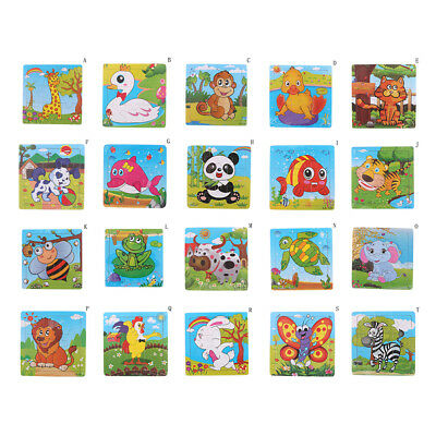1 Set Wooden Puzzle Jigsaw Animal Toddler Kids Early Learning Educational Toys!