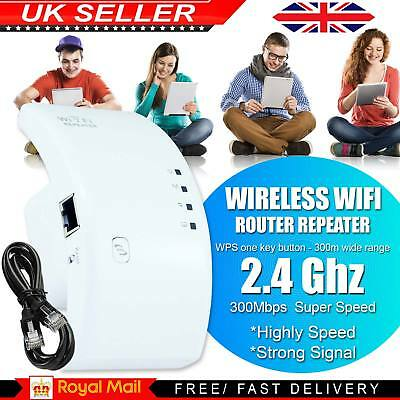 Wireless Repeater 300Mbps WiFi Signal Range Extender Router WiFi Booster Sky Wps