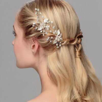 Bride headdress 1PCS wedding hair accessories Pearl Rhinestone Hair plug