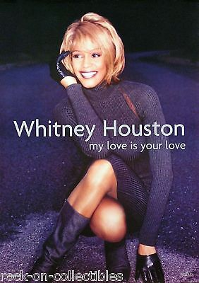 Whitney Houston 1998 My Love Is Your Love Original Uk Promo Poster