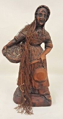 Early Fisher Woman Figurine with Arts and Crafts influence