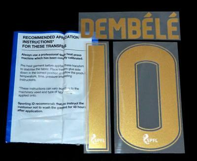 Celtic Dembele 10 Football Shirt Name/Number Set Kit Home 2017/18 Sporting ID