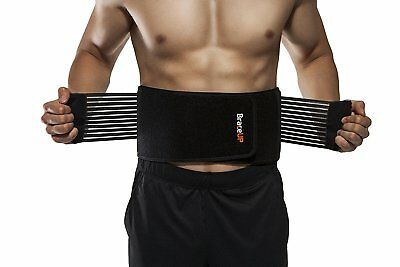 BraceUP Stabilizing Lumbar Lower Back Brace and Support Belt with Dual Straps
