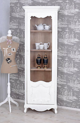 Display Case Country Style Cabinet White standvitrine Wood Shabby Chic