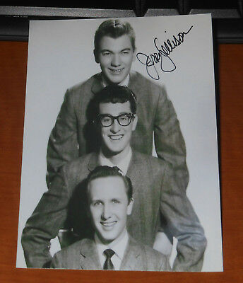 Jerry Allison Signed Auto Photo..legendary Drummer..buddy Holly And The Crickets