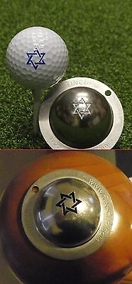 1 only TIN CUP GOLF BALL MARKER - STAR IS BORN (DAVID) 2  CUPS get special offer