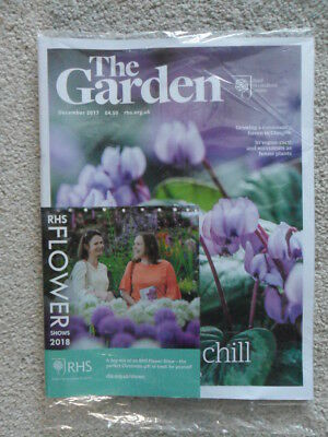 Rhs The Garden Magazine December 2017 Cyclamen Coum Cacti Succulents New Sealed
