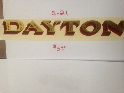 "Dayton Antique Scale & Coin Machine Decal  #s-21 Large  8 1/2"" Dayton"