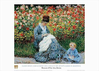 Camille Monet And A Child by Claude Monet 28x20 Museum Art Print