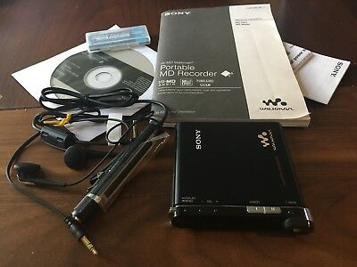 SONY MZ-M200 (RH-1) Hi-MD HiMD MiniDisc Recorder Player, MP3 MD, Accessories