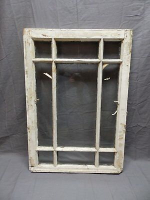 Antique 9 Lite Window Sash Shabby Cottage Chic 31x22 Vtg Architectural 633-17P