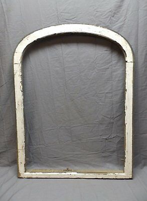 Antique Arched Round Dome Top Window Sash 40x31 Shabby Old Vtg Chic 636-18P