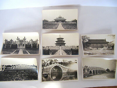 Original Antique Early 1900's Chinese Photographs Forbidden City Summer Palace