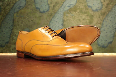 Loake 1880 Sample Tan Oxford Shoe 9F - New Seconds RRP £265 (15867)