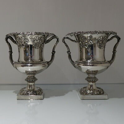 Early 19th Century Pair George IV Old Sheffield Wine Coolers Circa 1830