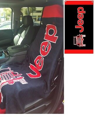 Black Red Jeep Beach Towel Seat Cover For Jeep Cj Wrangler