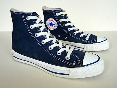b45a7285d0db Vintage 80s CONVERSE CHUCK TAYLOR All Star Hi Tops Made in USA OG Label Navy  6