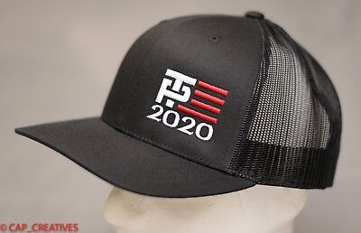 Make America Great Again- Donald Trump Hat 2020 -TP Flag US Black Mesh 112 Cap
