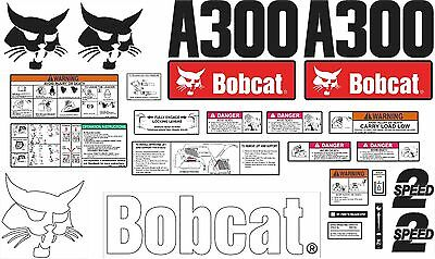 Bobcat A300 Decal Kit with controls. The most complete aftermarket kit available
