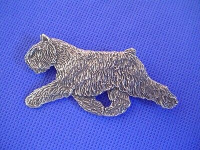 Bouvier des Flandres pin TROTTING #43C Pewter Dog Jewelry by Cindy A. Conter