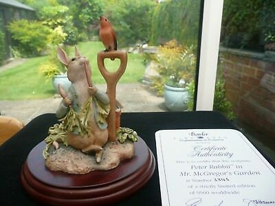 beatrix potter rabbit in mr mcgregors garden border