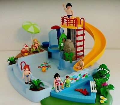 Playmobil Swimming Pool With Water Slide 4858