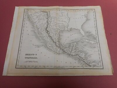 100% Original Mexico South America Map By Orr/dower C1828 Vgc Low Start