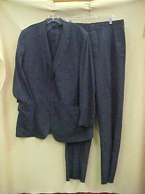 Vintage 1950's Men's Rockabilly Summer Weight VLV Charcoal Ricky Suit 48L