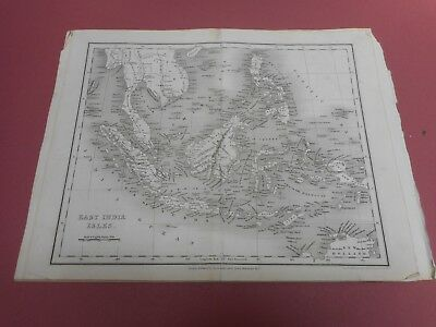 100% Original East Indies Borneo Malaya Map By Orr/dower C1828 Vgc Low Start