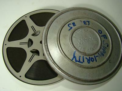 16mm 1940 Secrerts of Superiiority Gray 7 Inch Film Reel & Can Set Sound