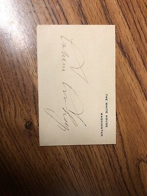 President Calvin Coolidge Autograph White House Official Business Cover