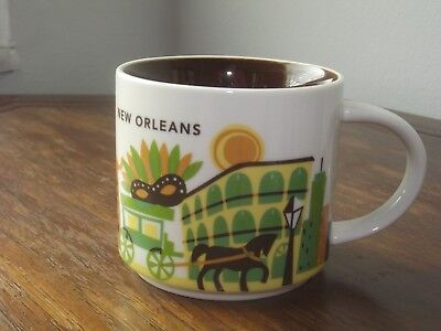 """Starbucks New Orleans """"You are Here"""" coffee cup 14 fl oz EUC"""